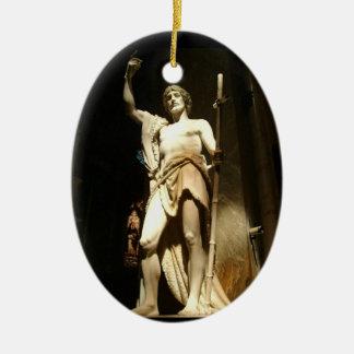 Saint John the Baptist Ceramic Ornament