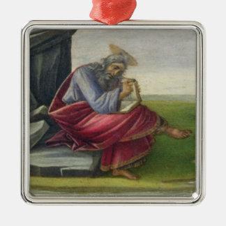 Saint John the Divine on Patmos, Writing the Book Metal Ornament