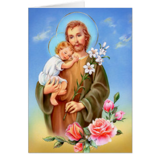 """Saint Joseph feast day"" ""little saints of spring"" Card"