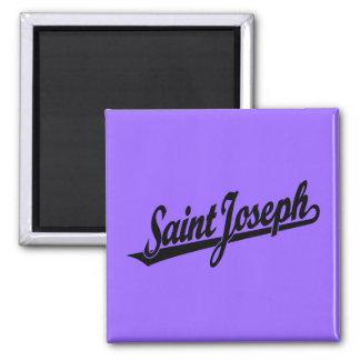 Saint Joseph script logo in black Fridge Magnet