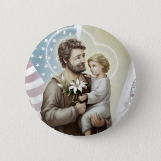 Saint Joseph the Protector 6 Cm Round Badge
