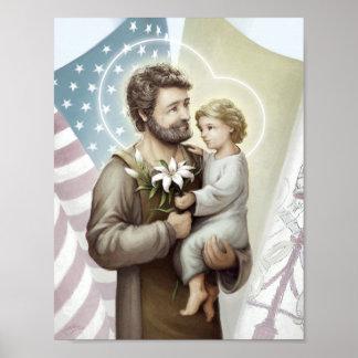 Saint Joseph the Protector Poster