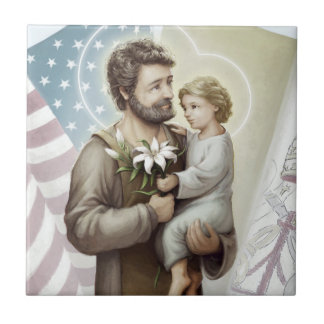 Saint Joseph the Protector Tile