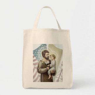 Saint Joseph the Protector Tote Bag