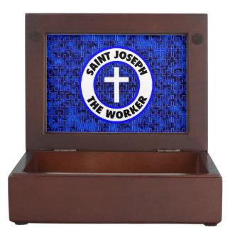 Saint Joseph the  Worker Keepsake Box