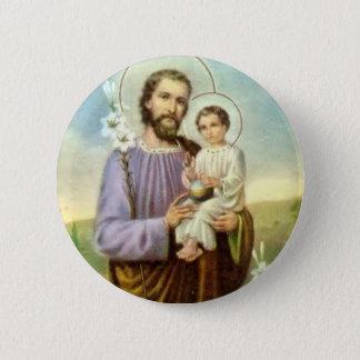 Saint Joseph with Jesus  2¼ Inch Round Button
