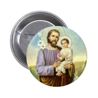 Saint Joseph with Jesus  2¼ Inch Round Button