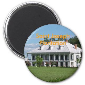 Saint JosephPlantation 6 Cm Round Magnet