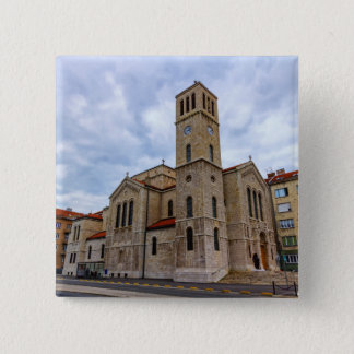 Saint Joseph's Church in Sarajevo. Bosnia and Herz 15 Cm Square Badge