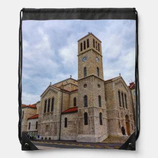Saint Joseph's Church in Sarajevo. Bosnia and Herz Drawstring Bag