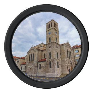 Saint Joseph's Church in Sarajevo. Bosnia and Herz Poker Chips