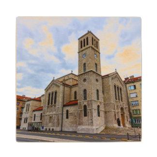 Saint Joseph's Church in Sarajevo. Bosnia and Herz Wood Coaster