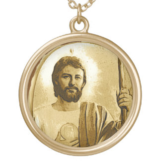 Saint Jude Gold Plated Necklace