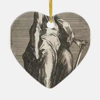 Saint Jude (or Saint Matthias) Ceramic Heart Decoration
