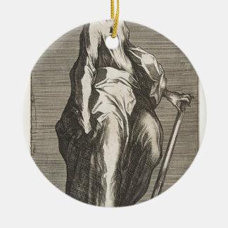 Saint Jude (or Saint Matthias) Round Ceramic Decoration