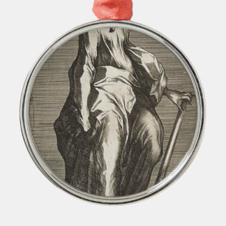 Saint Jude (or Saint Matthias) Silver-Colored Round Decoration
