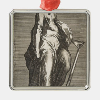 Saint Jude (or Saint Matthias) Silver-Colored Square Decoration
