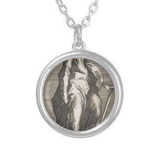 Saint Jude (or Saint Matthias) Silver Plated Necklace
