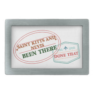 Saint Kitts and Nevis Been There Done That Rectangular Belt Buckle