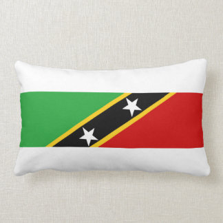 saint kitts and nevis country flag nation symbol lumbar cushion