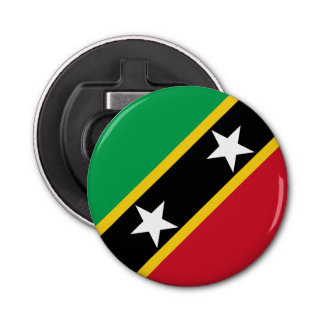 Saint Kitts and Nevis Flag Bottle Opener