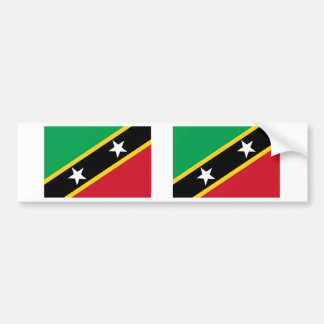 Saint Kitts and Nevis Flag Bumper Sticker