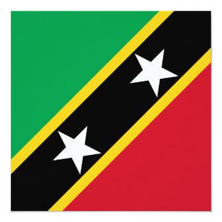 Saint Kitts and Nevis Flag Card