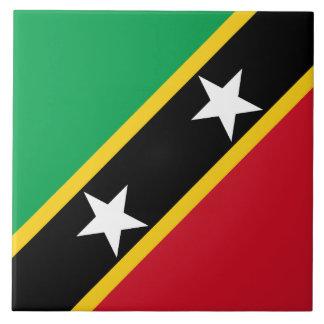 Saint Kitts and Nevis Flag Ceramic Tile