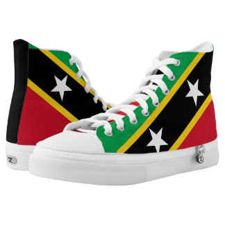Saint Kitts and Nevis Flag High Tops