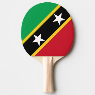 Saint Kitts and Nevis Flag Ping Pong Paddle