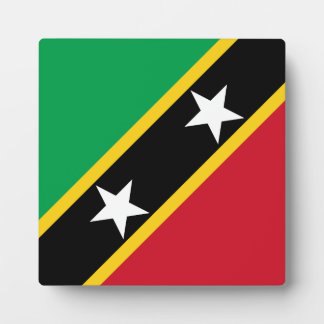 Saint Kitts and Nevis Flag Plaque