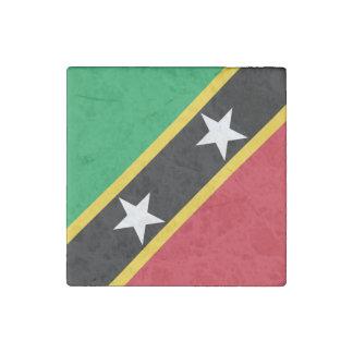 Saint Kitts and Nevis Flag Stone Magnet