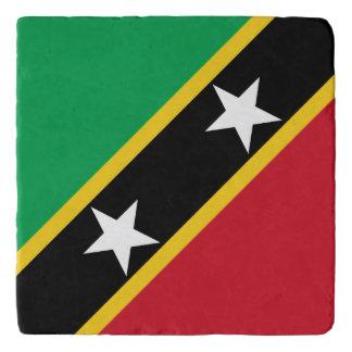 Saint Kitts and Nevis Flag Trivet
