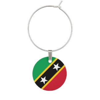 Saint Kitts and Nevis Flag Wine Charm
