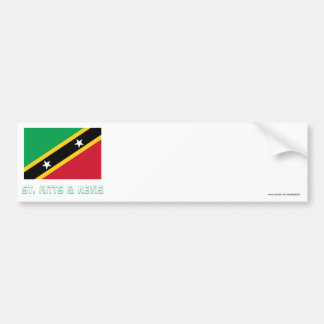 Saint Kitts and Nevis Flag with Name Bumper Sticker