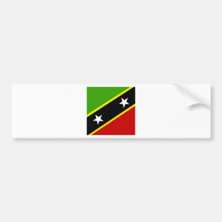Saint Kitts And Nevis High quality Flag Bumper Stickers