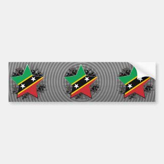 Saint Kitts and Nevis Star Bumper Sticker