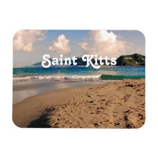 Saint Kitts Beach Rectangular Photo Magnet