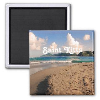 Saint Kitts Beach Square Magnet