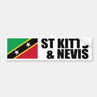 Saint Kitts & Nevis Flag Bumper Stickers