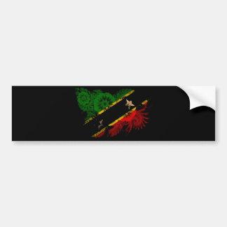 Saint Kitts Nevis Flag Bumper Sticker
