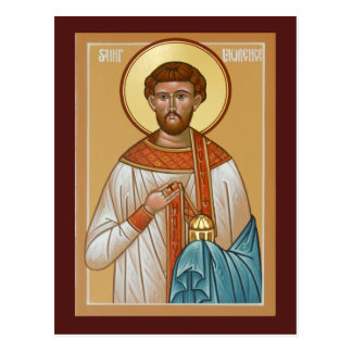 Saint Lawrence Prayer Card