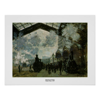 Saint Lazare Station by Claude Monet Poster