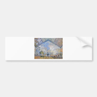 Saint-Lazare Station, Exterior View by Claude Mone Bumper Sticker