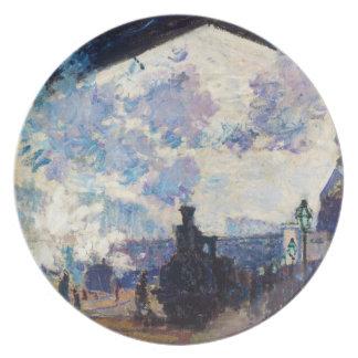 Saint-Lazare Station, Exterior View Claude Monet Party Plate