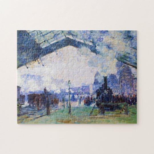 Saint-Lazare Station, Normandy Train, Claude Monet Jigsaw Puzzle