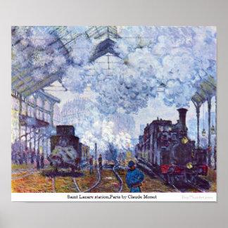 Saint Lazare station,Paris by Claude Monet Poster