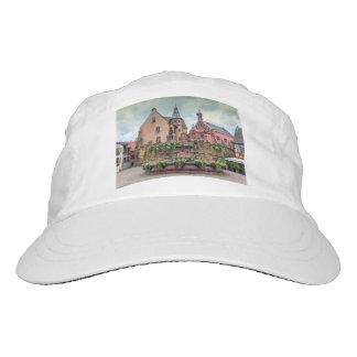 Saint-Leon fountain in Eguisheim, Alsace, France Hat