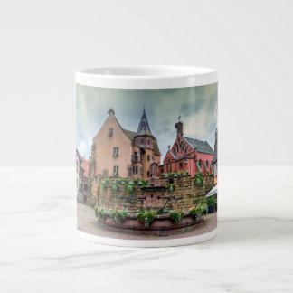 Saint-Leon fountain in Eguisheim, Alsace, France Large Coffee Mug