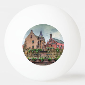 Saint-Leon fountain in Eguisheim, Alsace, France Ping Pong Ball